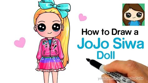 In this tutorial, you will learn how to draw a penguin in a structured and straightforward way. How to Draw a JoJo Siwa Doll - YouTube | Kawaii tekeningen ...