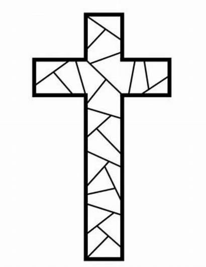 Cross Coloring Printable Pages Mosaic Pattern Crosses