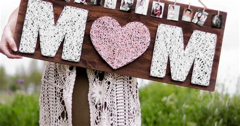 string art mothers day gift personalized diy mothers