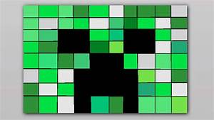 Paintbrush speedart #1 Creeper Face - Minecraft draw - YouTube