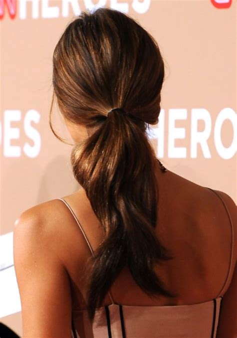 jessica alba long sleek ponytail hairstyle hairstyles weekly