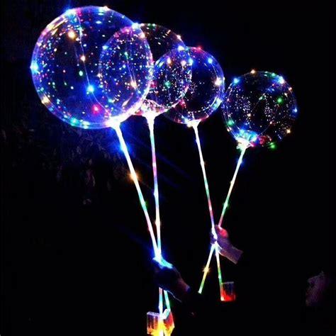 led light  balloons   transparent bobo