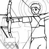Coloring Olympic Games Fencing Archery sketch template