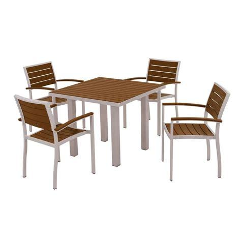 polywood nautical mahogany 5 patio dining set pws124