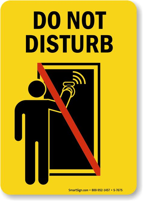 dont disturb template do not disturb sign with graphic 5 x 7 to 7 x 10 inches