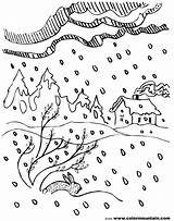Coloring Pages Storm Snow Winter Falling Blizzard Drawing Sheet Mountain Jesus Sketch Calming Thunderstorm Template Printable Colormountain Getcolorings Getdrawings sketch template