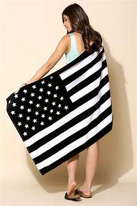 american flag towel Urban Outfitters American Flag Beach Towel in Black - Lyst