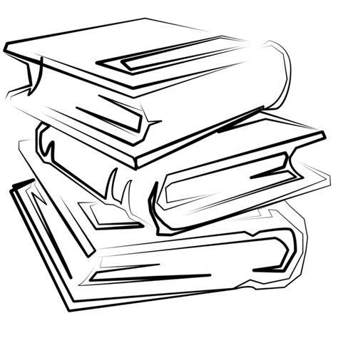 cartoon stack  books clipart