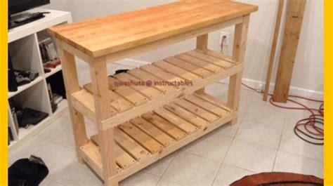 diy kitchen island woodworking plans build  butcher