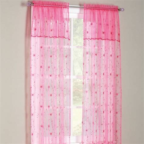 sears curtains and valances flora sheer panel with attached valance panels with attached