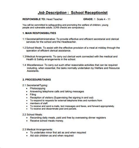 100 Medical Receptionist Job Description For Resume