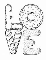 Coloring Donut Printable Sheets Doughnuts Valentine Donuts Printables Peace Colouring Doughnut Need Adult Heart Rainbow sketch template