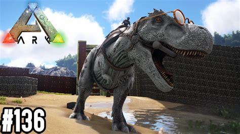 weissen  rex zaehmen unser dinosaurier gehege ist fertig