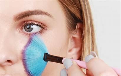 Fan Brush Makeup Mask Application Tool Face