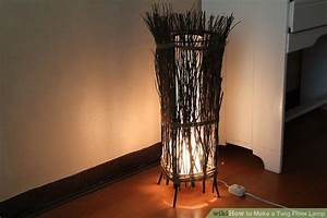 How to make a twig floor lamp with pictures wikihow for Twig floor lamp white