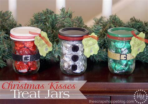 christmas jar gifts christmas kisses treat jars the scrap shoppe
