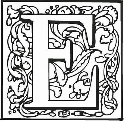 Letter Coloring Fancy Pages Letters Alphabet Printable
