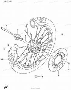 Suzuki Motorcycle 1999 Oem Parts Diagram For Front Wheel