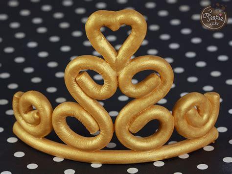 couronne pate a sucre la couronne de princesse tutoriel f 233 erie cake