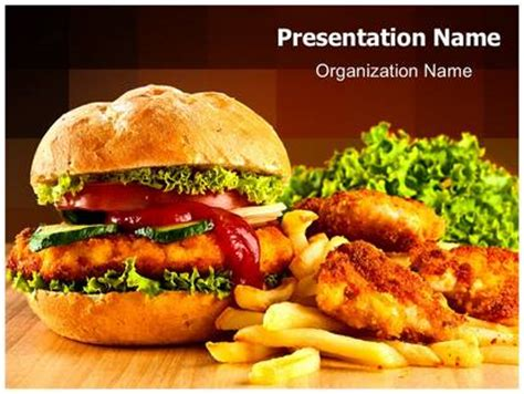 junk food powerpoint template background