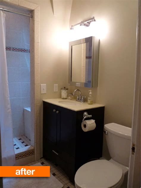 totally manageable mini bathroom remodel cabinet kings