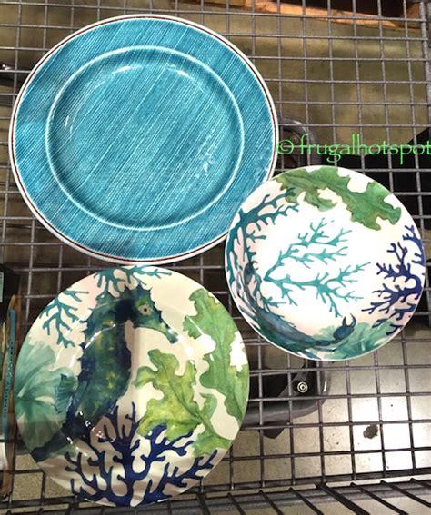costco clearance sea life melamine  pc dinnerware set  frugal hotspot