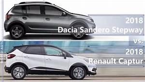Renault Dacia Sandero : 2018 dacia sandero stepway vs 2018 renault captur technical comparison youtube ~ Medecine-chirurgie-esthetiques.com Avis de Voitures