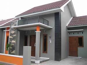 kombinasi warna cat luar rumah minimalis tampak depan yang ...