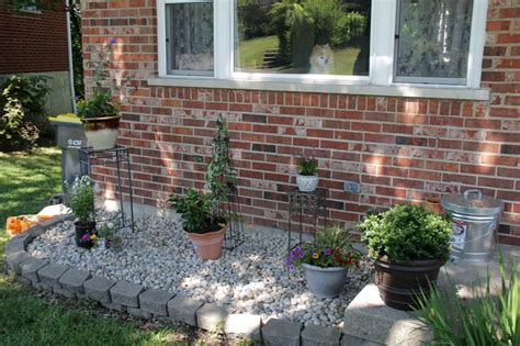 flower bed turned container rock garden charmingly