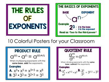 laws  exponents posters  amy hearne amys angle tpt