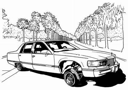 Lowrider Coloring Cars Dokument Press Drawings Low