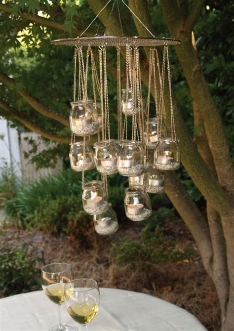outdoor candle chandelier diy garden chandelier the owner builder network