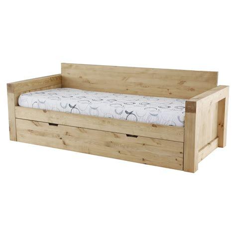 canapé style chalet canapé 2 places microfibre et bois massif avec
