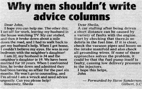 men shouldnt write advice columns funny