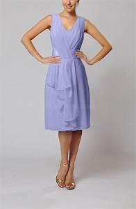 lavender romantic column v neck chiffon ribbon wedding With lavender dress for wedding guest