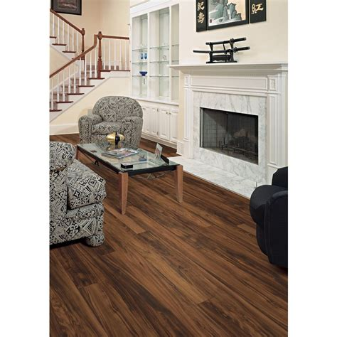 style selections shop style selections 4 96 in w x 4 23 ft l orchard plum smooth laminate wood planks at lowes