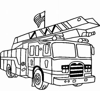 Coloring Fire Truck Pages Lego Printable Engine