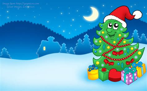 happy christmas tree on christmas wallpapers and images