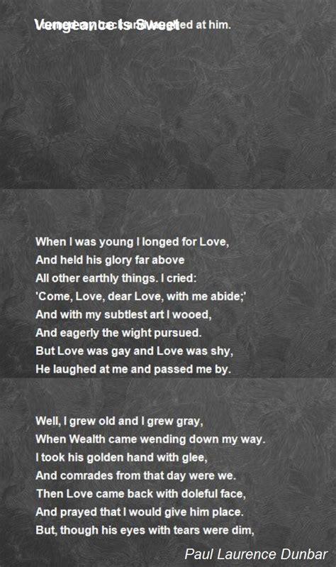vengeance  sweet poem  paul laurence dunbar poem hunter