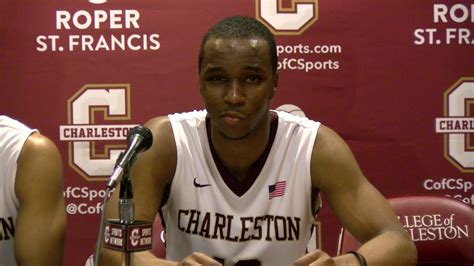 cofc mens basketball  uncw post game interview youtube