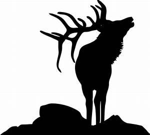 Elk Head Silhouette - Cliparts.co