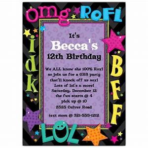 teen, talk, birthday, party, invitations