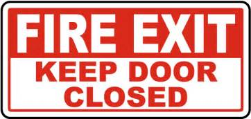 Fire Exit Keep Door Closed Sign A5151