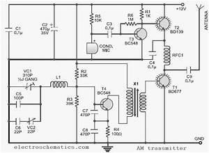 10 To 15 Mhz Am Transmitter Circuit