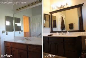 bathroom mirror frame ideas framing a mirror without miter cuts the six fix