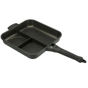 tf gear new 3 in 1 supersize carp fishing frying pan cing outdoor ebay