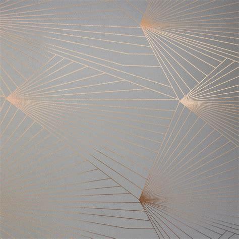 zinc grey  copper wallpaper fan  designer erica