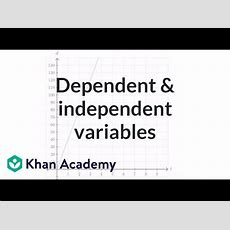 Dependent & Independent Variables Equation  Algebra (video)  Khan Academy