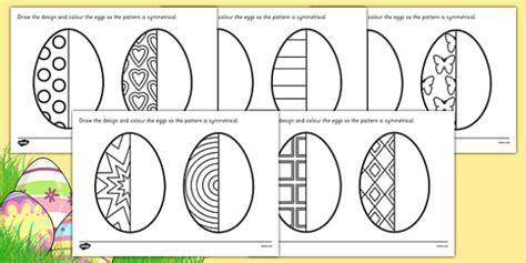 ks easter egg symmetry worksheets