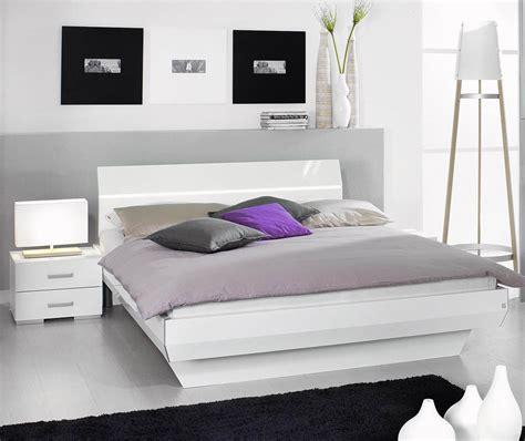 lit 2 personnes laque blanc